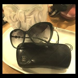 Chanel sunglasses with protective case